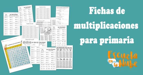 ▷ Fichas de multiplicaciones para primaria | Escuela en la Nube