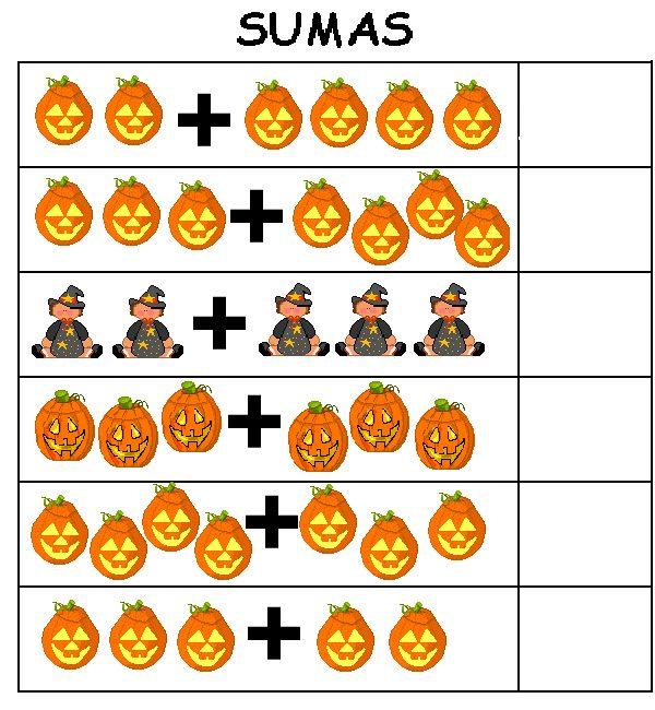 Fichas de sumas y restas. Recursos para el aula