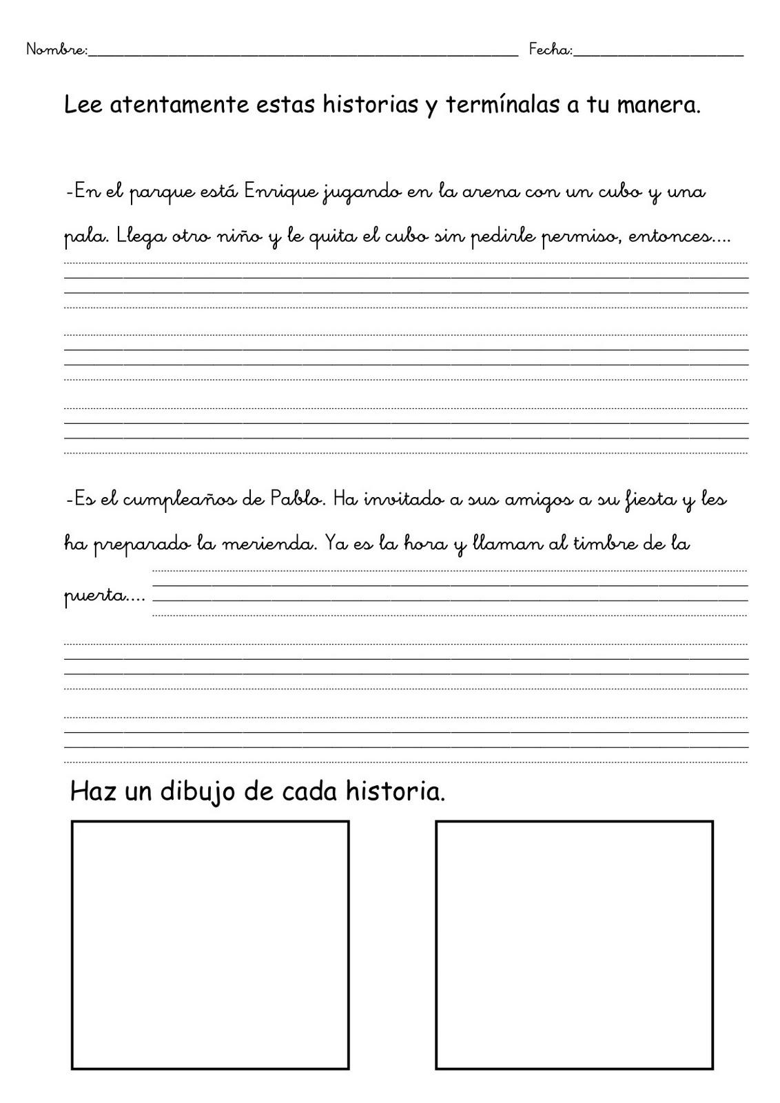 Expresión escrita. Ejercicios de lengua | Escuela en la nube ...