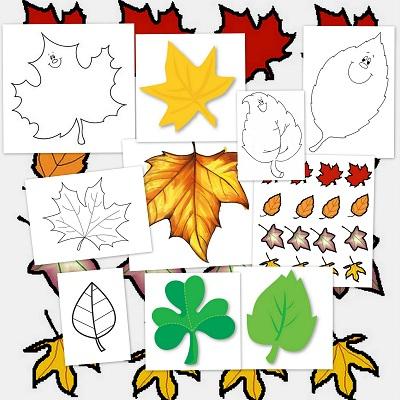 Llega el otoño. Hojas para colorear y decorar
