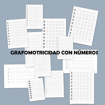 Ejercicios grafomotricidad con números