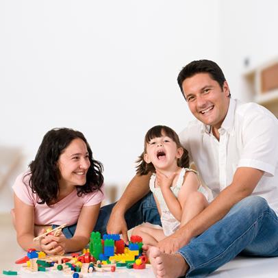 Papa con niños