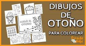 dibujos de otoño para colorear
