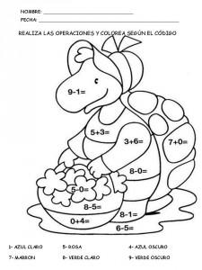 Suma Y Colorea Fichas Matemáticas Para Aprender A Sumar