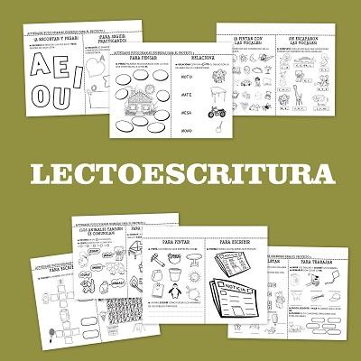 Fichas de lectoescritura para infantil y primaria