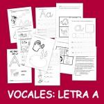 Vocales letra A