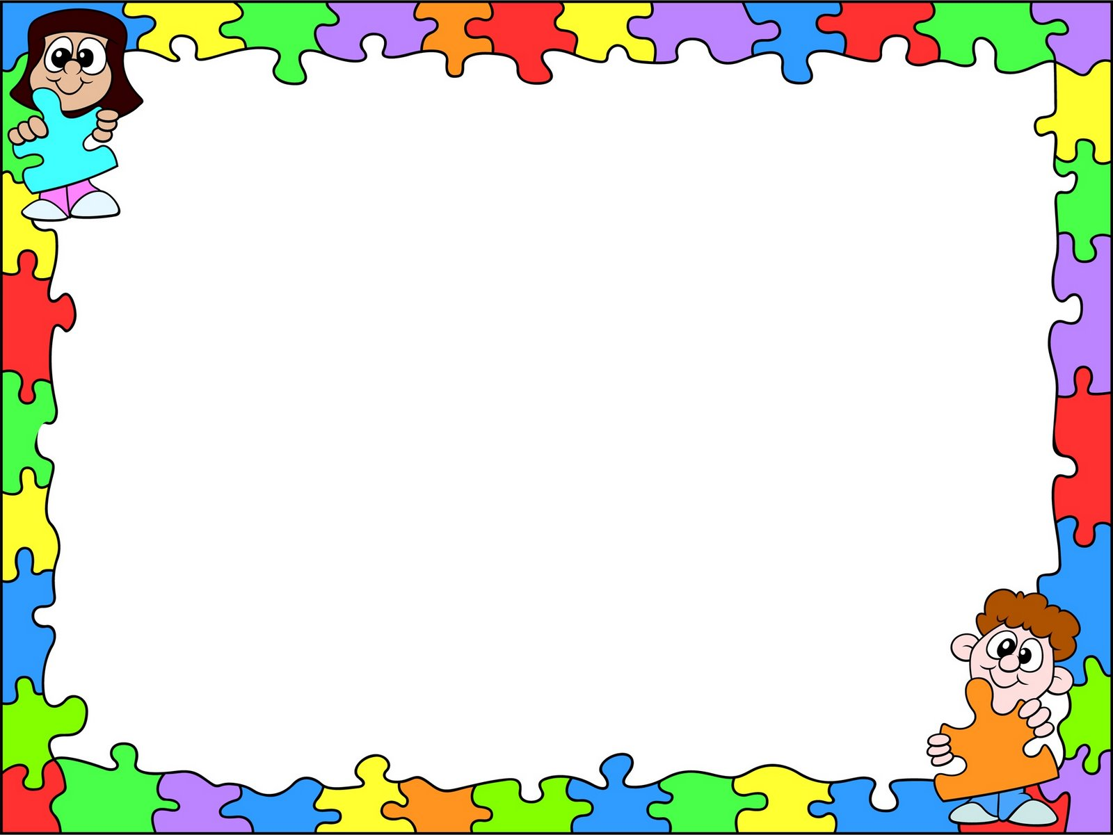 Marcos y bordes para educaci n - Puzzles decorativos ...