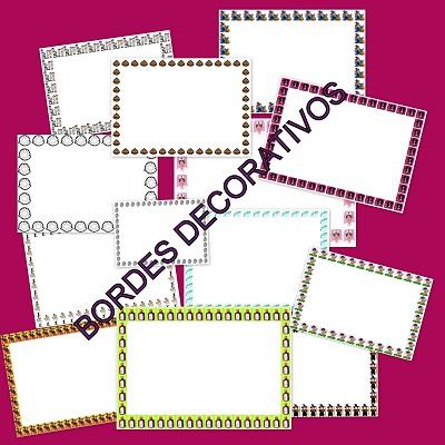 Bordes decorativos para trabajos en clase for Bordes creativos