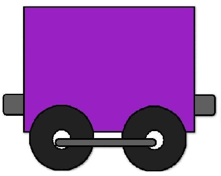 Tren Animado Para Colorear Con Vagones