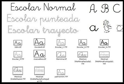 tipos de letra escolar
