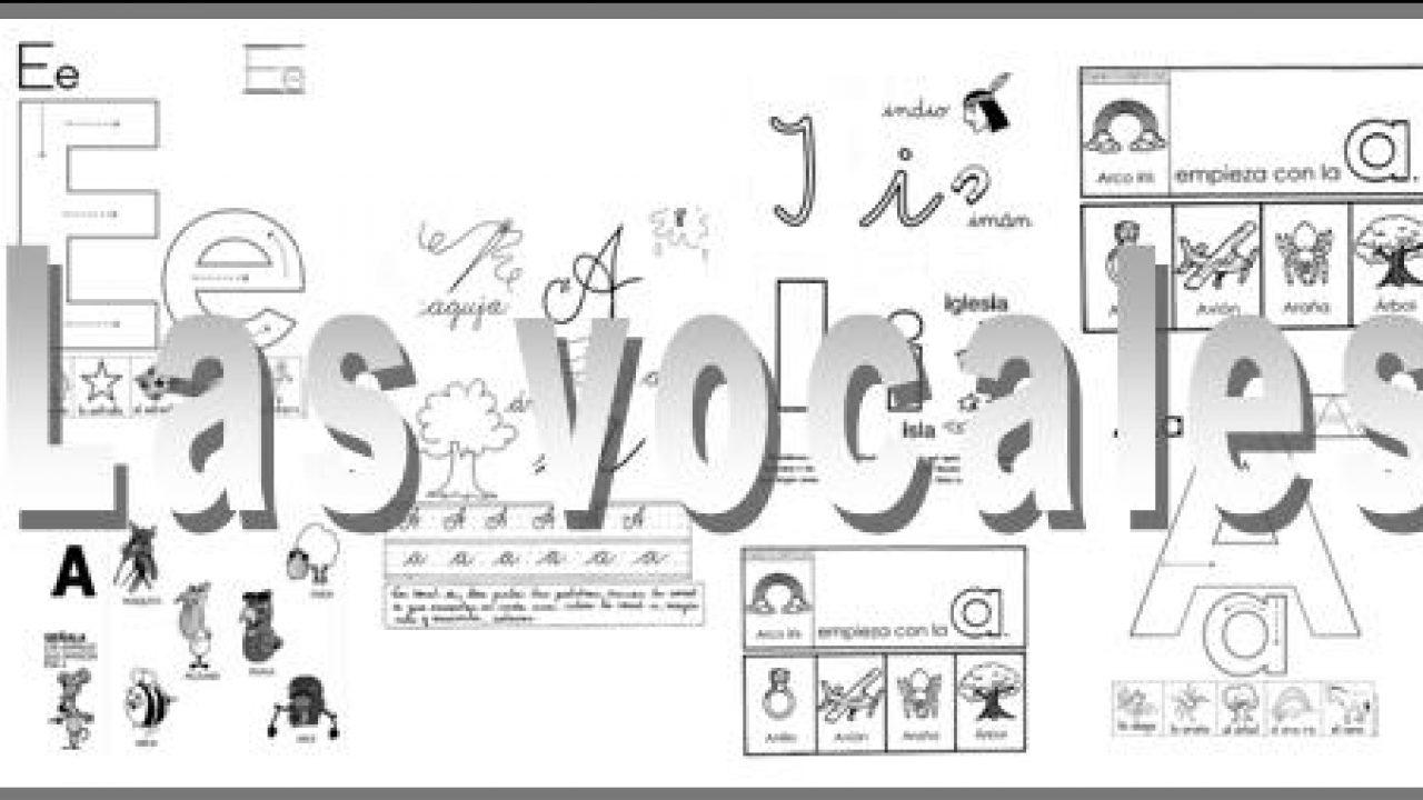 Las Vocales Fichas Para Trabajar En Infantil Escuela En La Nube