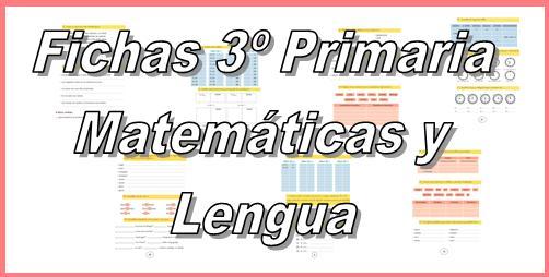 Fichas Primaria de Matemáticas y Lengua niños 8-9 años