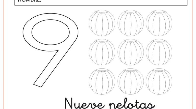 Los n meros del 1 al 9 el nueve for Numero deputati alla camera