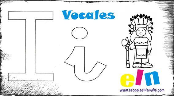 vocales, letras, fichas infantil, ejercicios infantil