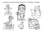 letra I, vocales, fichas infantil, lengua, lenguaje