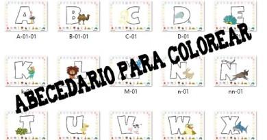 Colorea las letras del abecedario – Escuela en la Nube