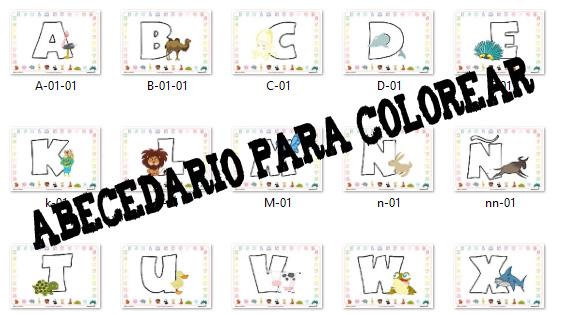 Colorea Las Letras Del Abecedario Escuela En La Nube