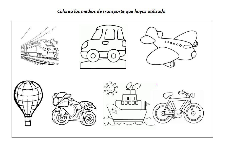 Fichas educativas: Los medios de transporte
