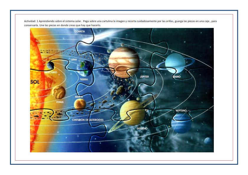 Ficha - Rompecabezas aprendiendo sobre el sistema solar_001