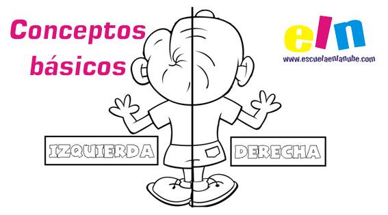 Recursos educativos:Fichas Conceptos Derecha e Izquierda.