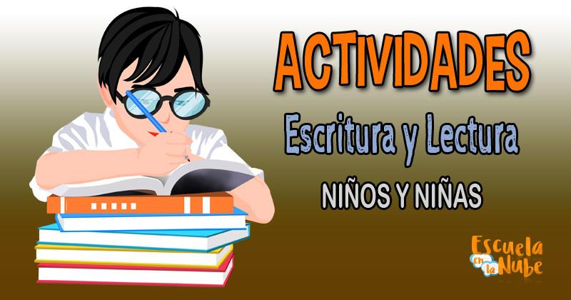 actividades escritura, actividades lectura