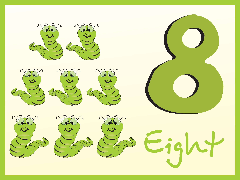 Números en Inglés del 1 al 10. Fichas Infantil
