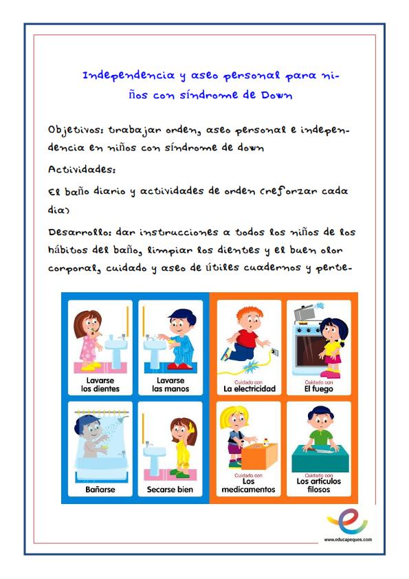 Fichas- Actividades para niños con Síndrome de Down_007