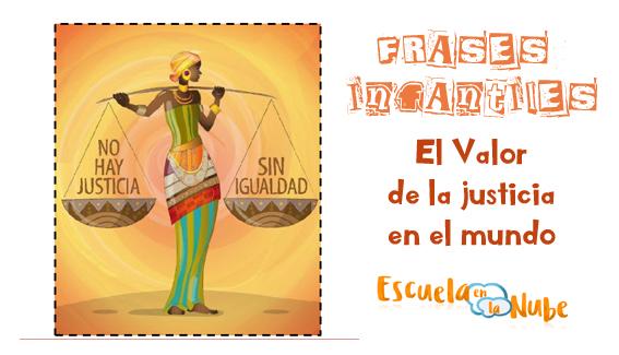 Frases Sobre El Valor De La Justicia Para Niños Fichas Y