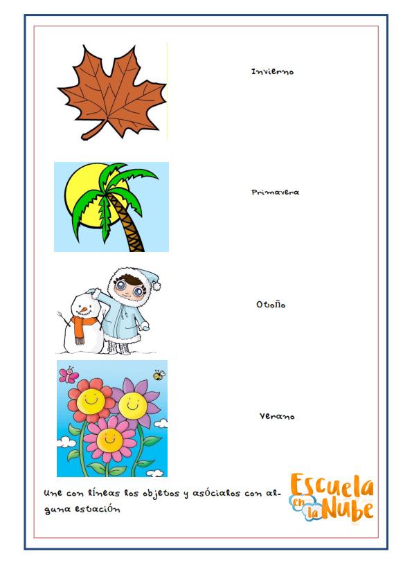 Aprendiendo las estaciones del año - Escuela en la Nube