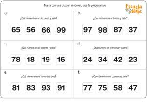 ejercicios matematicas primero primaria