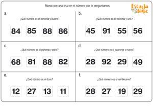 matematicas primero primaria