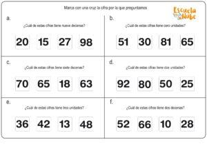 números primaria
