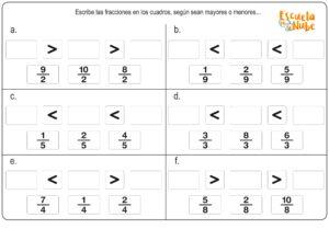 fracciones en matematicas