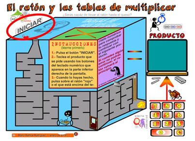 el ratón y las tablas de multiplicar