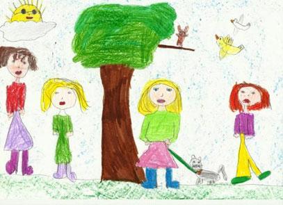 etapa esquemática dibujo infantil