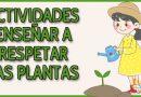 respetar las plantas