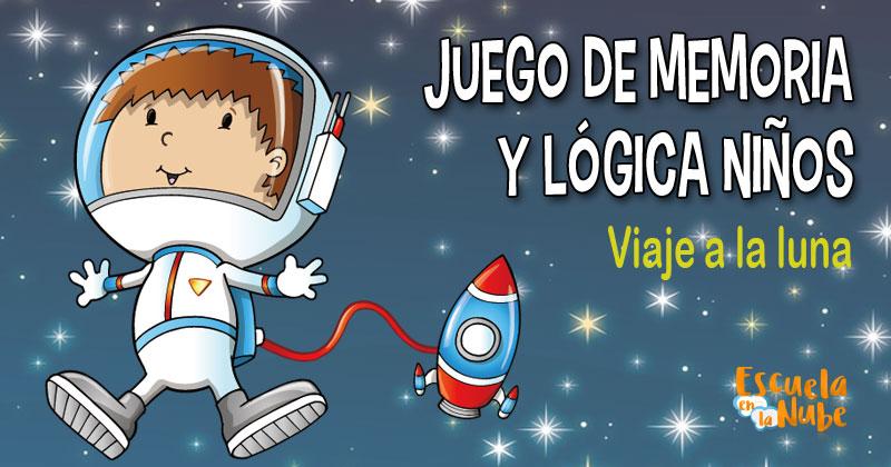 Juego De Memoria Y Lógica Para Niños Viaje A La Luna